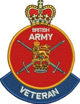 British Army Veteran embroidered Badge